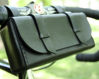 Leather Bike Tool Bag - Black