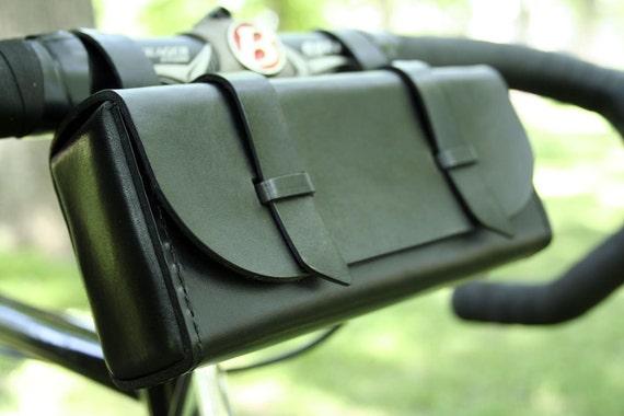 Bicycle Tool Bag : Leather bike tool bag black