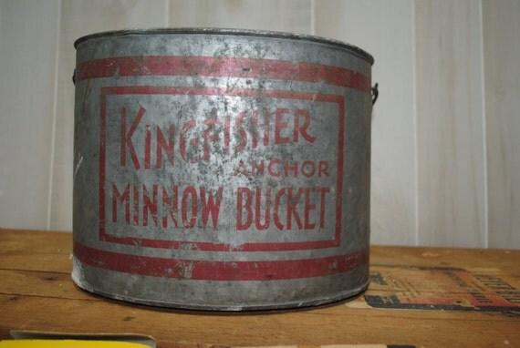 SALE Galvanized Minnow Bucket