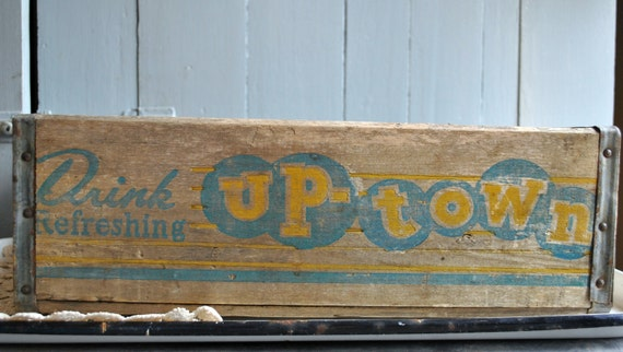 Vintage Wooden Soda Crate Up-Town