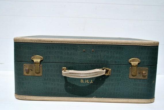 Vintage Suitcase Green in Color