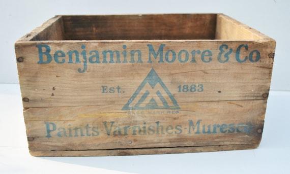 Vintage Wood Benjamin Moore Paint Crate