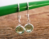 Personalized Channel Earrings Sterling Silver With Choice of Swarovski Crystal