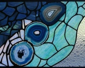 Custom Made Stained Glass Transom
