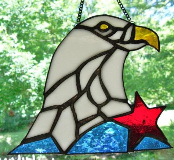Patriotic Stained Glass Suncatcher