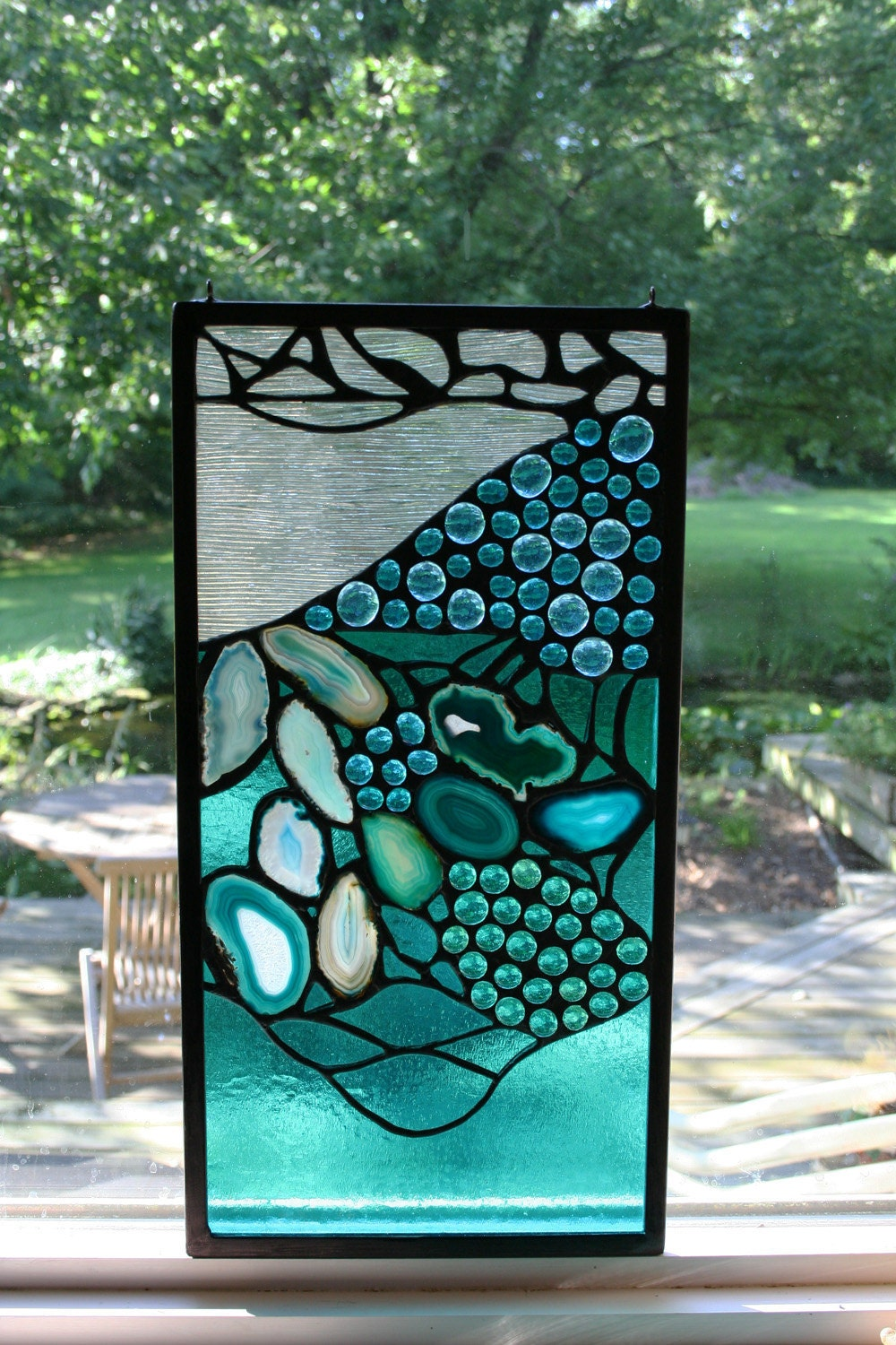 Black Stained Glass Front Door