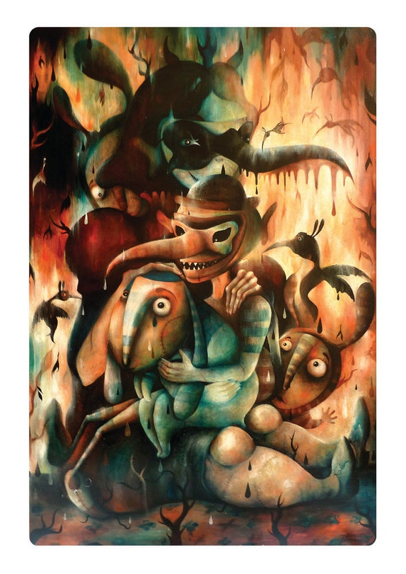 """Giclée Digital fine art print """"After the fire"""", limited edition of 20 / signed and numbered"""