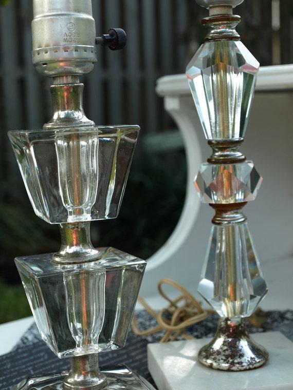 Reserved Listing for Emily - Glass Base Vintage Lamp