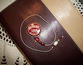 Vintage Bottle Cap Book Thong Raspberry Soda