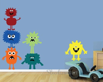 Peel and Stick Wall Decal MONSTERS