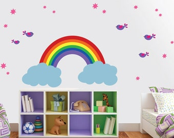 REUSABLE Rainbow Wall Decal - Childrens Wall Decals - SK309SWA