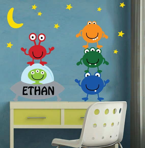 REUSABLE Alien Wall Decal - M800SWA