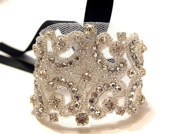 Crystal Tulle Cuff