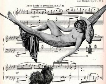 MUSIC retro 59, original ARTWORK, mixed media