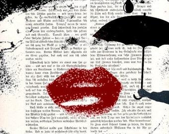 TEAR, original ARTWORK art poster  giclee print wall decor illustration
