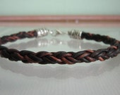 Dark Brown Bolo Braided Leather Bracelet