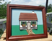 Framed Miniature Cottage Wall Art