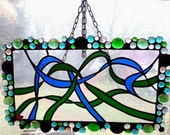 "Stained Glass Window Hanging 19""x11"""
