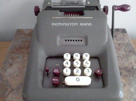 Vintage Adding Machine Manual Remington Rand