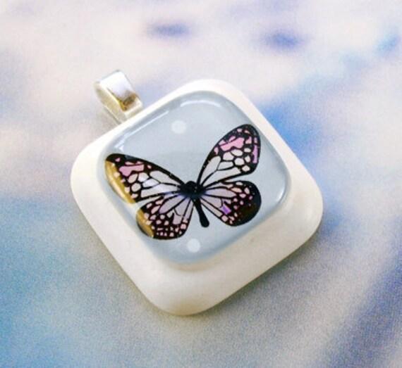 Blue Delightful Butterfly Resin Pendant