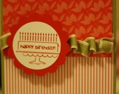 Green and Tomato Birthday Card