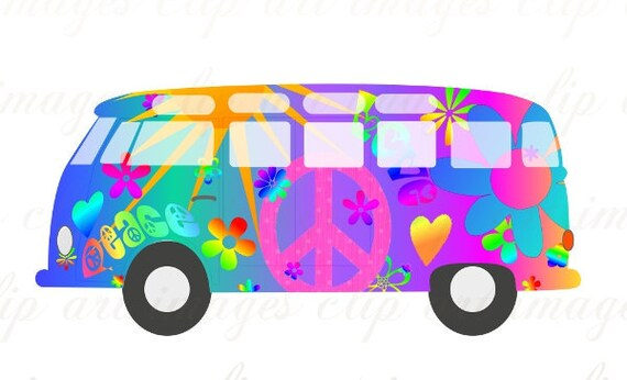 Magic Bus Clip Art VW Bus only $1.50 on Etsy at ImagesClipArt