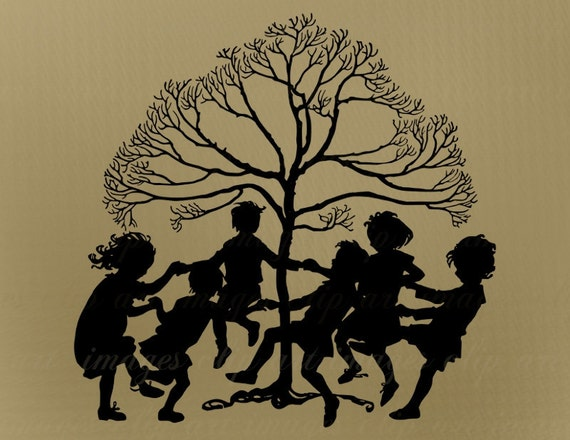 Children Playing Clip Art Mulberry Bush Ring Around The