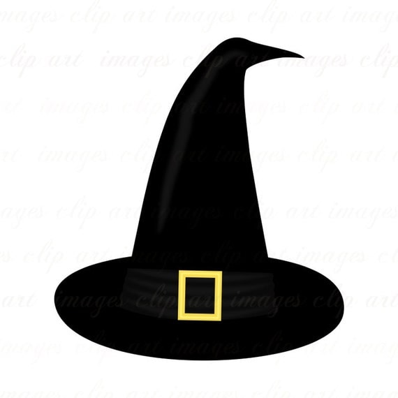 Witch Hat Clip Art one plain and one with buckle by ...