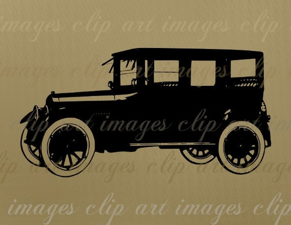 Like a Studebaker Clip Art, Another Antique Car Graphic, Royalty free Digital Download Design Element, Image for crafts an designs for sale