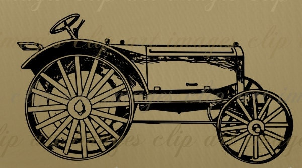vintage tractor clipart - photo #30