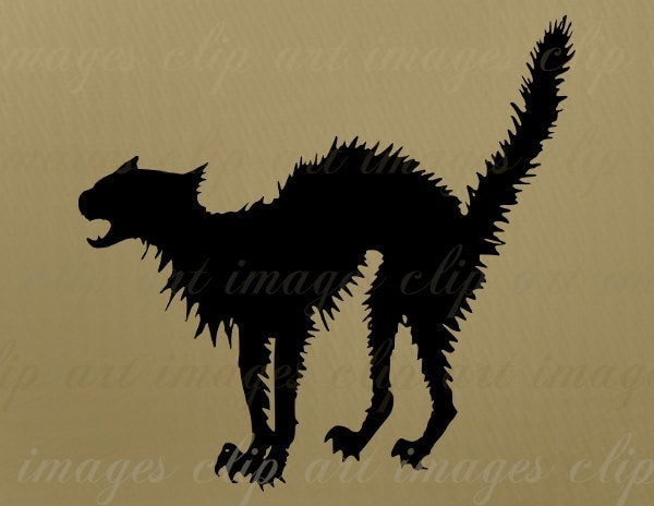scary cat clipart free - photo #8