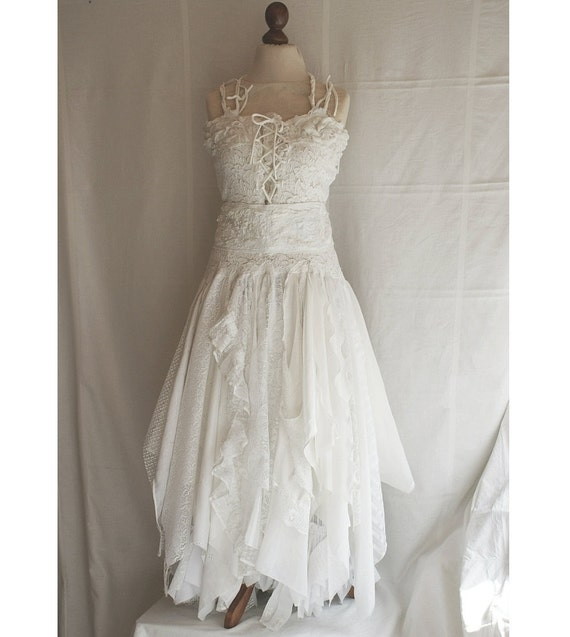 Deposit For Aysha Upcycled Wedding Dress Fairy Tattered By Cutrag