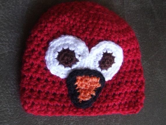 Baby Cardinal Bird Hat Ready To Ship Newborn Size