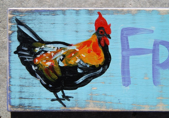 FRESH EGGS hand-painted sign