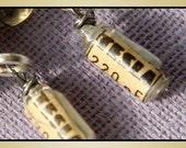 Eco Friendly Jewelry, Steampunk Vintage Tesla Earrings. Tiniest TESLA Resistor with Handmade Smoke Glass - Sterling Silver