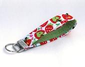 Key Fob/Wristlet Keychain- Apples, Cherries, and Berries