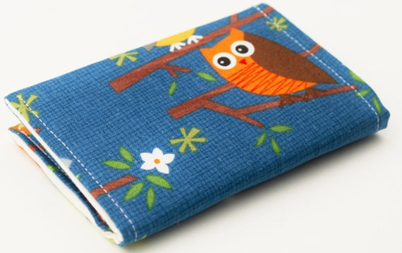 Owl Business Card Holder, Handmade Credit Card Case, Small Wallet, Woodland Animals