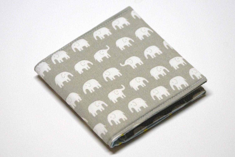 Square Business Card Case Elephants Oversized Card Holder