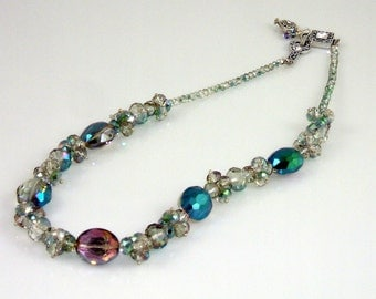 Mother's Day Necklace with Fancy Swarovski Crystal Clasp