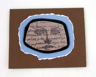 Here's Looking At You with French Script Handmade Greeting Card