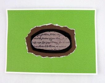 Antique Inspired Artifact Handmade Greeting Card