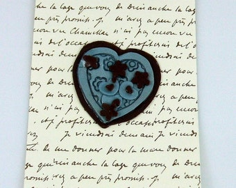 My Heart is Yours with French Script Handmade Greeting Card