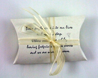 Fancy Footprints In The Sand Stamped Gift Box 19 Pillow Shaped