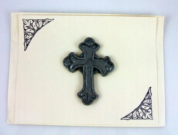 Celtic Cross with Fleur De Lis Handmade Greeting Card