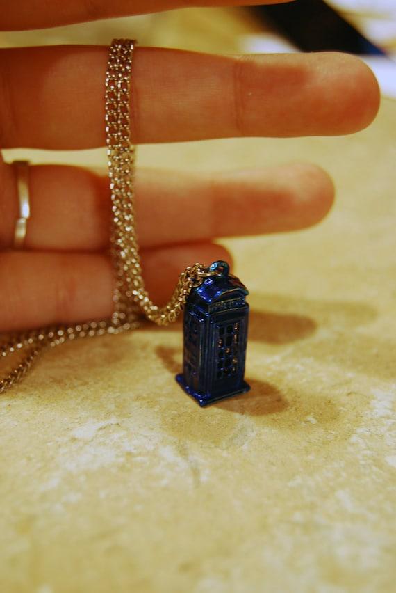 Teeny-Weeny TARDIS Necklace