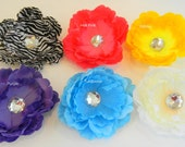 Flower Hair Clips, You Choose Two
