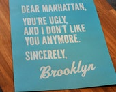 Dear Manhattan, Sincerely Brooklyn Poster