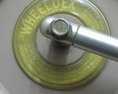 Retro WHEELDEX Desk Accessory - Mid Century Modern Enameled Steel Organizer