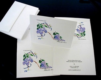 Personalized Note Cards - For Every Occasion.  Set of 10 -  Choose from over 450 Prints