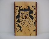 Wood owl plaque